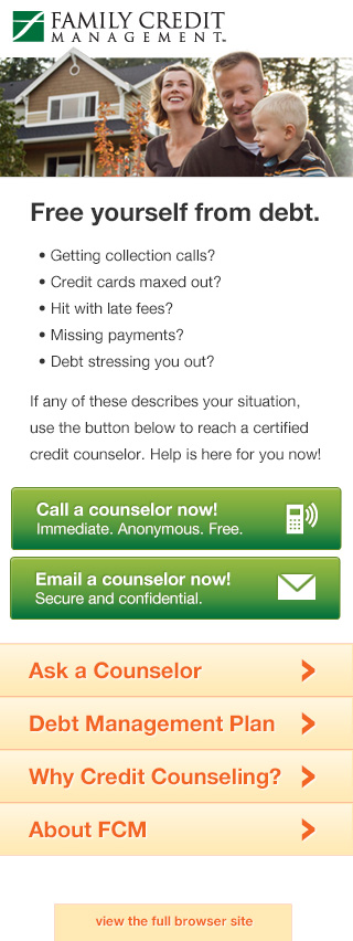 Famiy Credit Managment mobile website