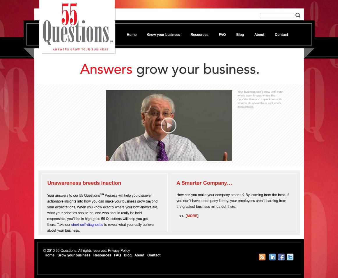 55 Questions Website