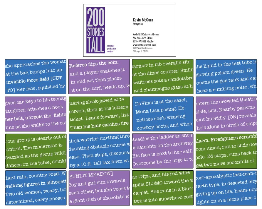 200 Stories Tall business cards