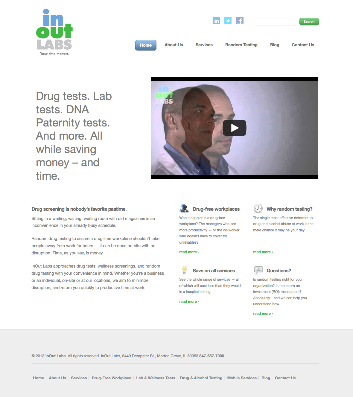 InOut Labs website