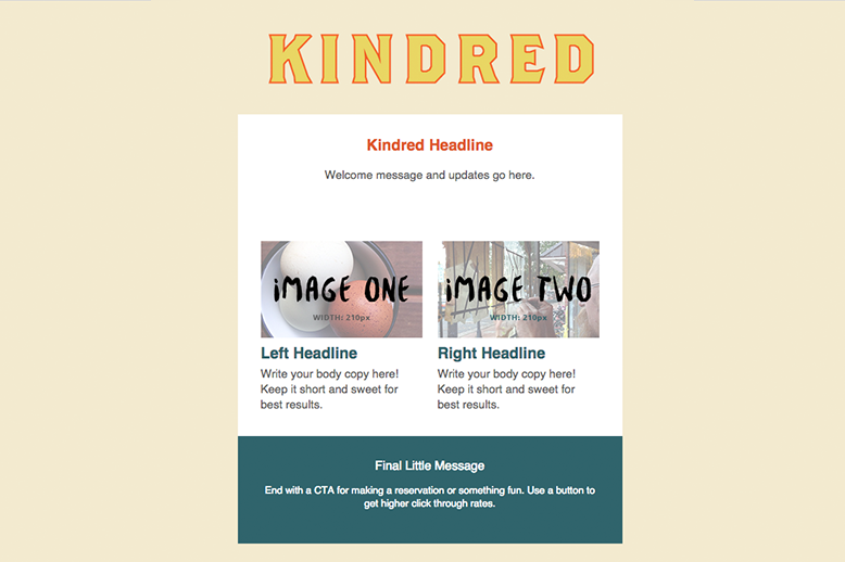 Responsive Email Template for Kindred