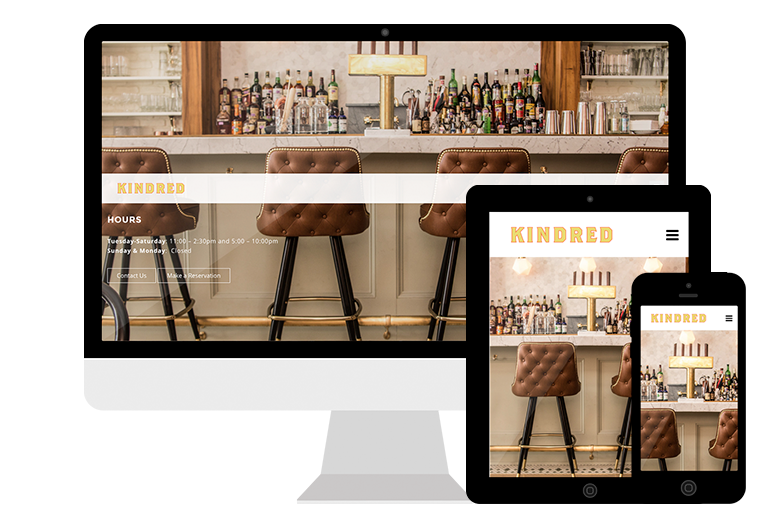 Kindred's Responsive Website