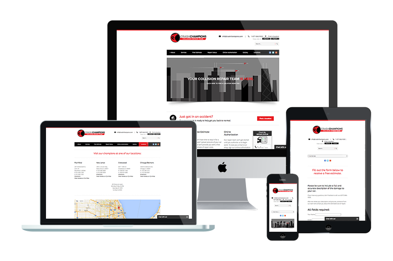 Crash Champions' Responsive Website