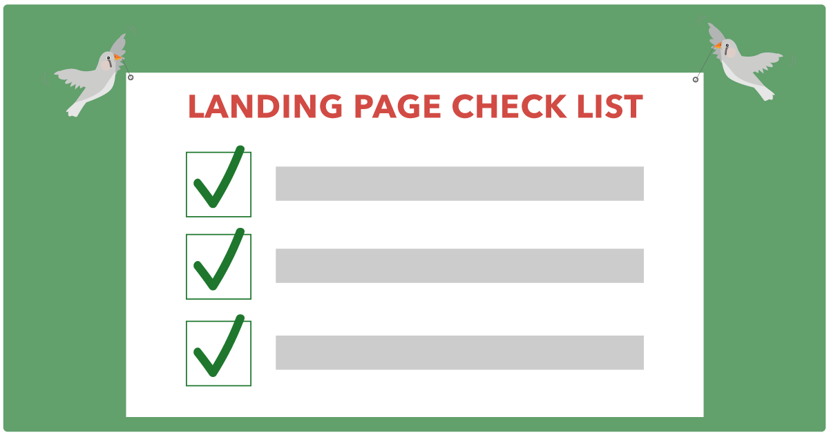 Landing Page Check list